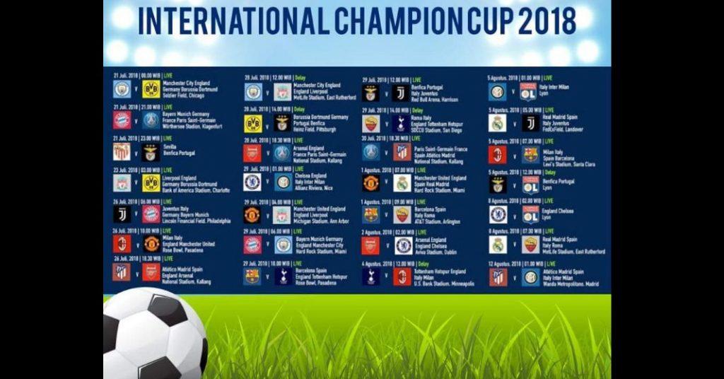 Jadwal dan Streaming Bola International Champion Cup