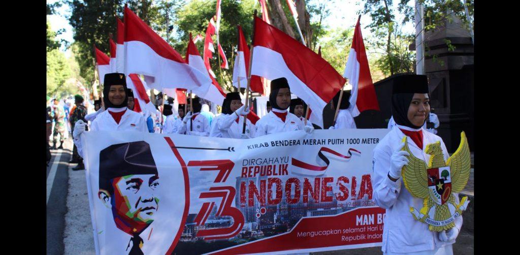 Acara Kirab Bendera Merah Putih