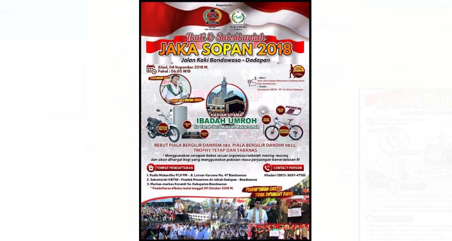 Informasi Jaka Sopan 2018