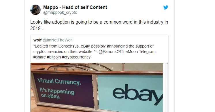 eBay Coin Masuk Market Cryptocurrency