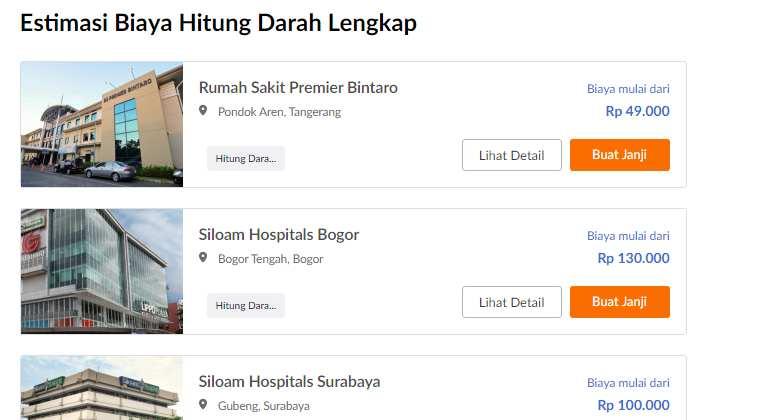 Biaya Cek Darah Murah Kok