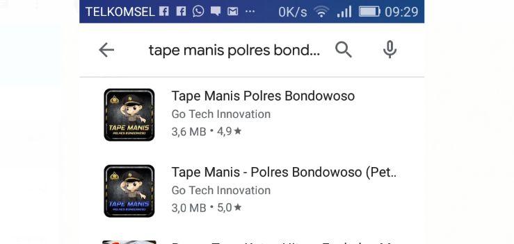 Tape Manis Polres Bondowoso