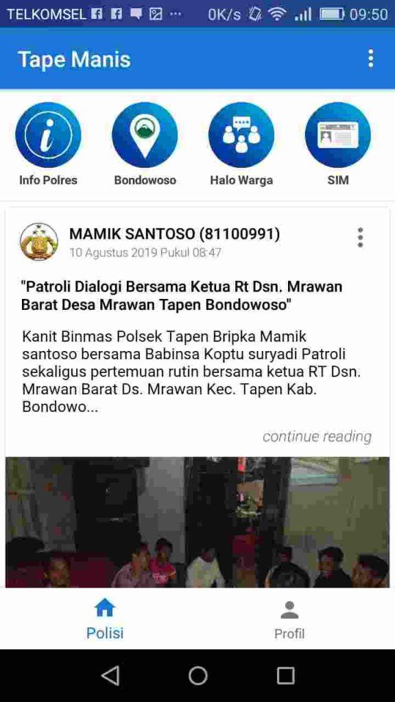Tape Manis Polres Bondowoso, Masyarakat Terasa Terlindungi oleh Polisi