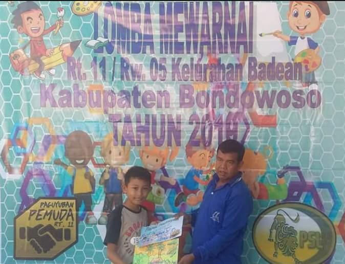 Lomba Mewarnai Tingkat RT Kelurahan Badean Bondowoso di HUT RI ke 74