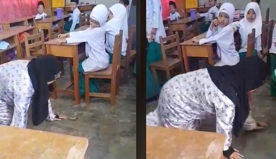 Wali Murid Menyuruh Guru merangkak