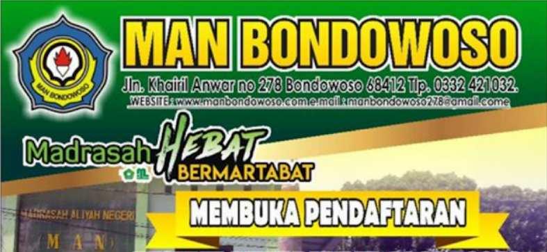 Pendaftaran Siswa Baru MAN Bondowoso
